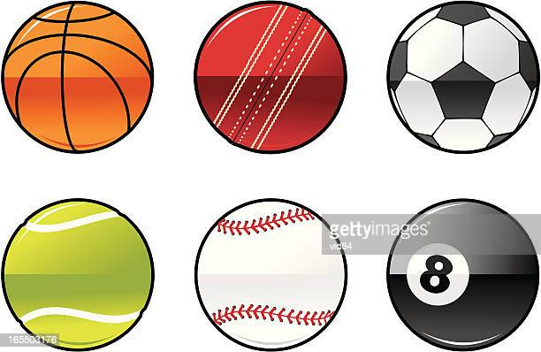 shiny balls - cricket ball stock illustrations