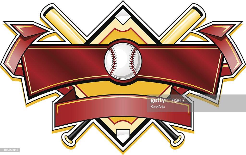 Shiny Baseball banner logo