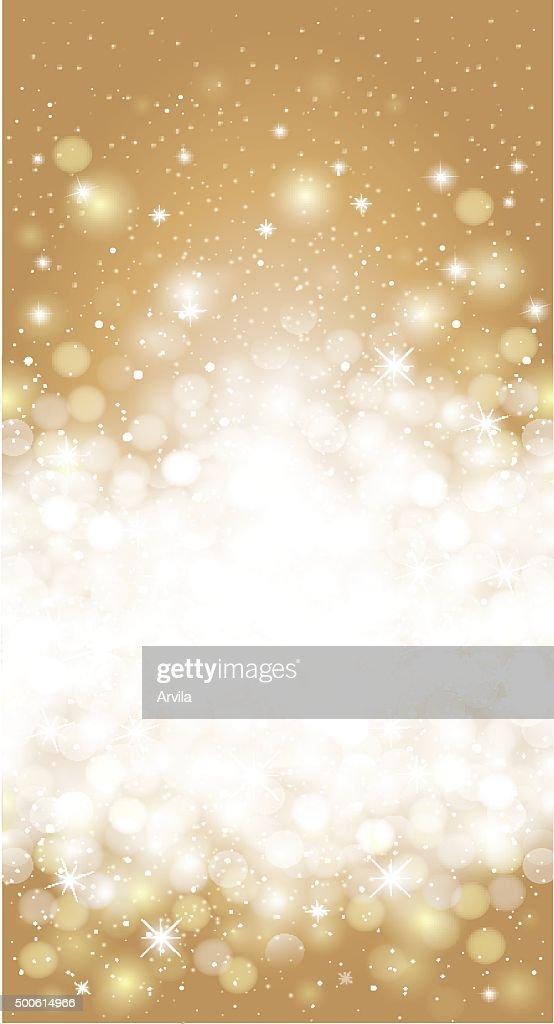 Shiny blurred gold holiday invitation card background
