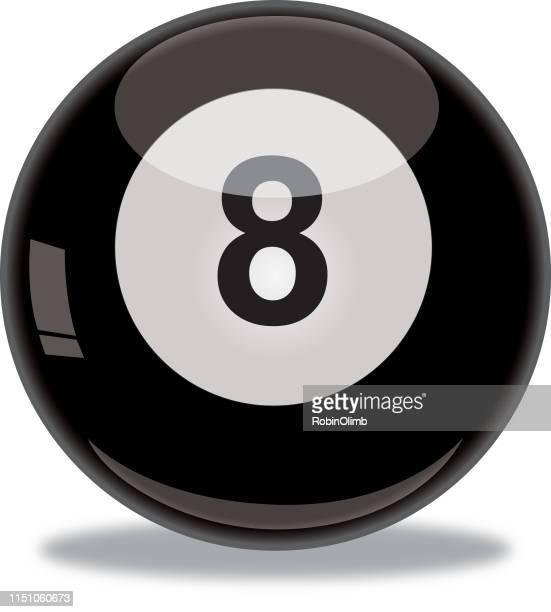 shiny eight ball icon - pool ball stock illustrations, clip art, cartoons, & icons