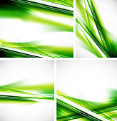 Shiny green lines backgrounds