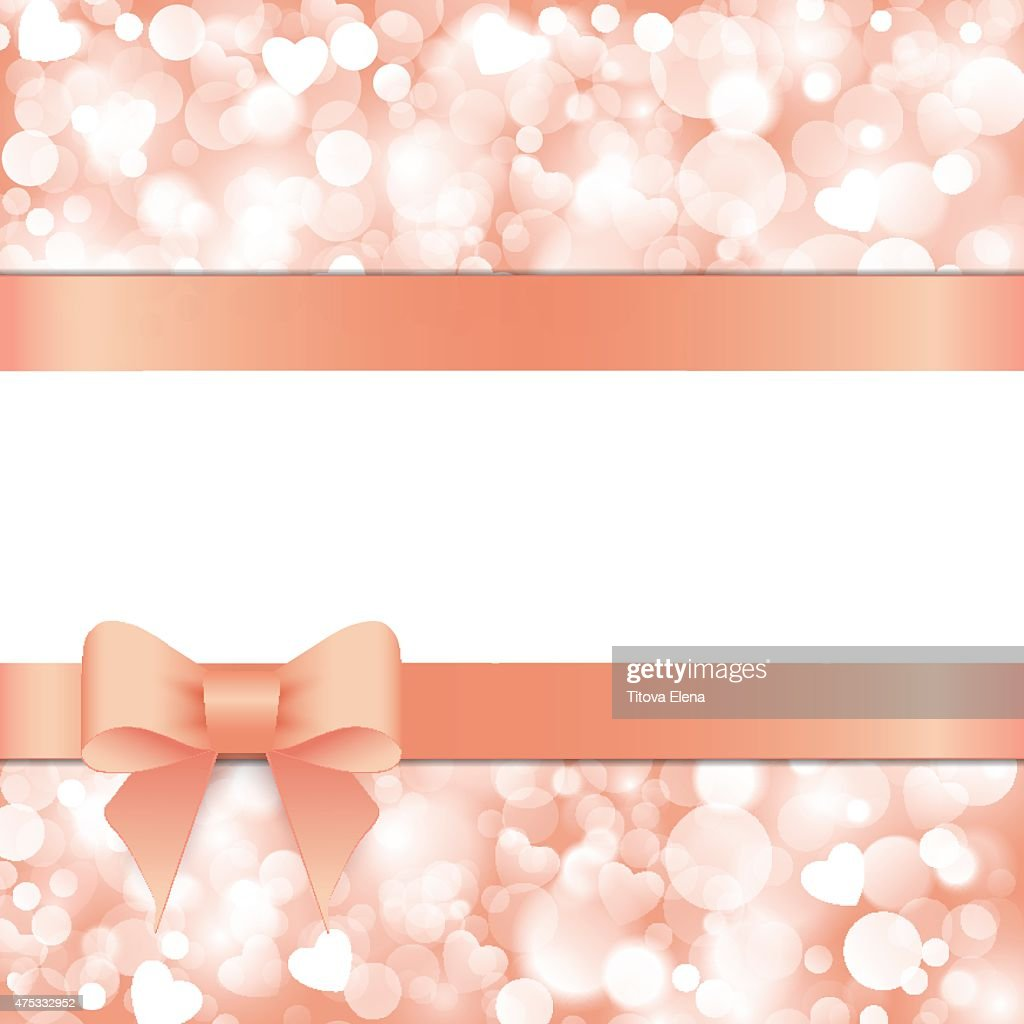 Shiny pink background with bow