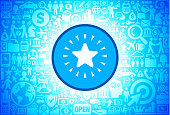 Shiny Star  Icon on Business and Finance Vector Background