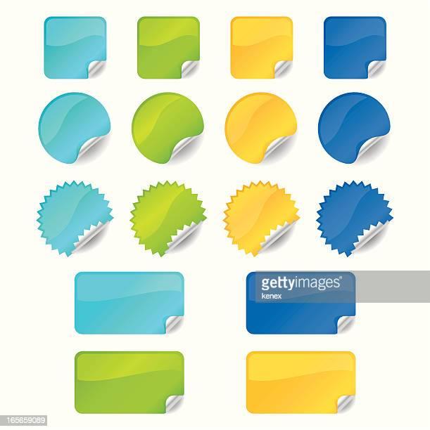 shiny stickers - post it stock illustrations, clip art, cartoons, & icons