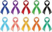 Shiny wareness ribbons