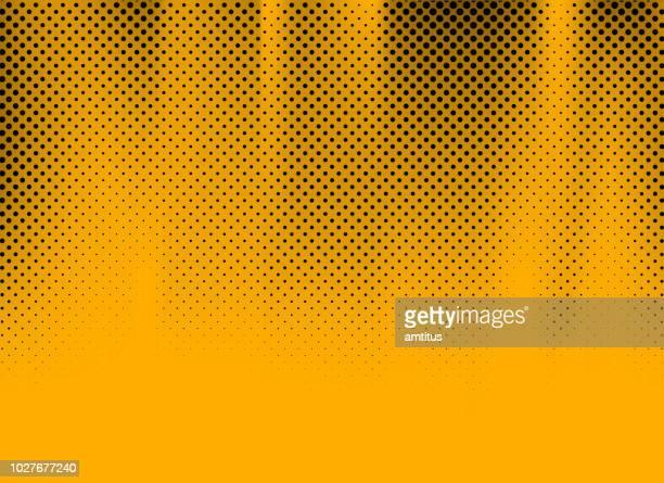 shiny yellow halftone