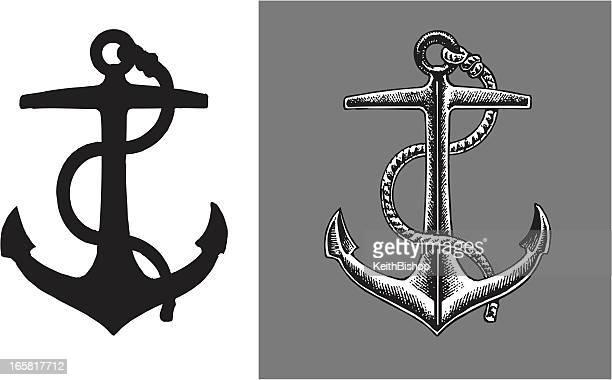 illustrations, cliparts, dessins animés et icônes de ship une ancre - ancre