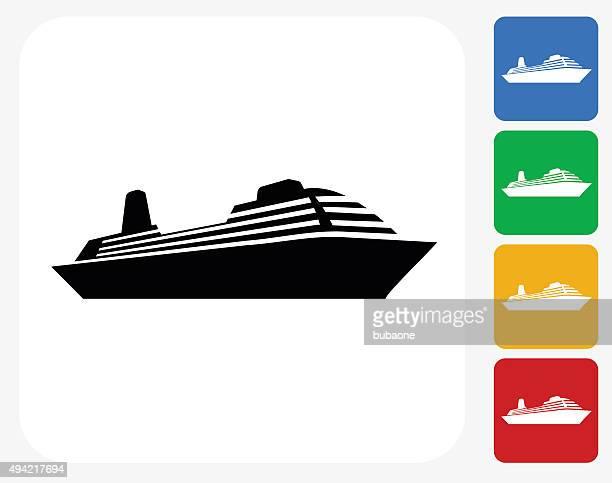 Ship Icon Flat Graphic Design