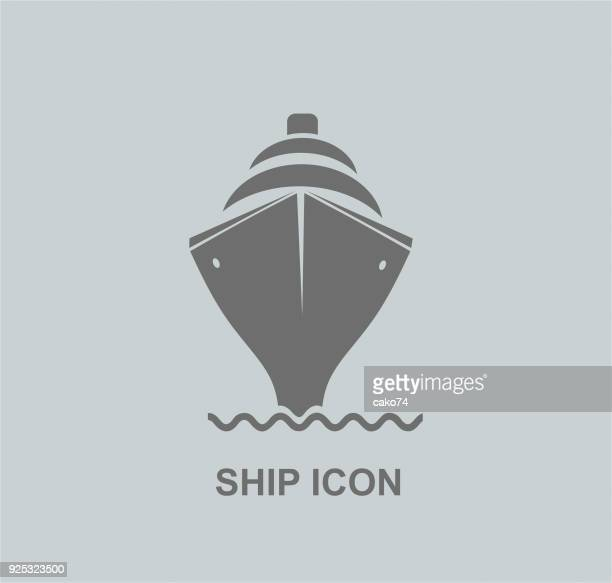 ship icon - cruise ship stock illustrations