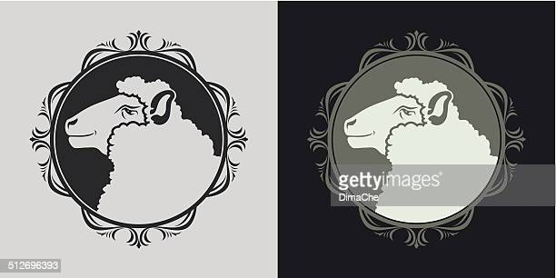 ship in frame - sheep stock illustrations, clip art, cartoons, & icons