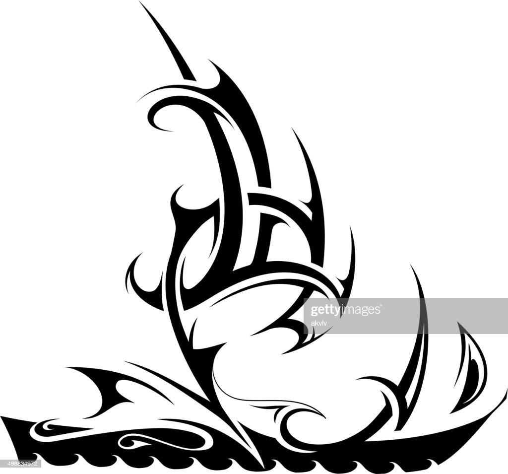 Ship tattoo shape
