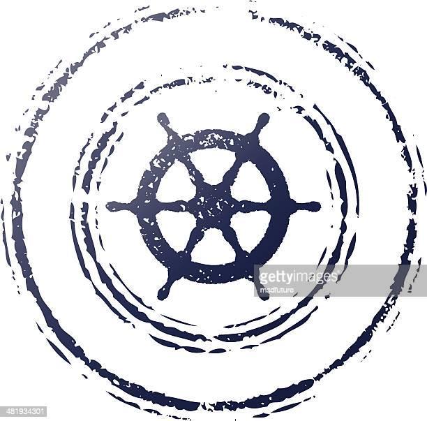 ship wheel stamp