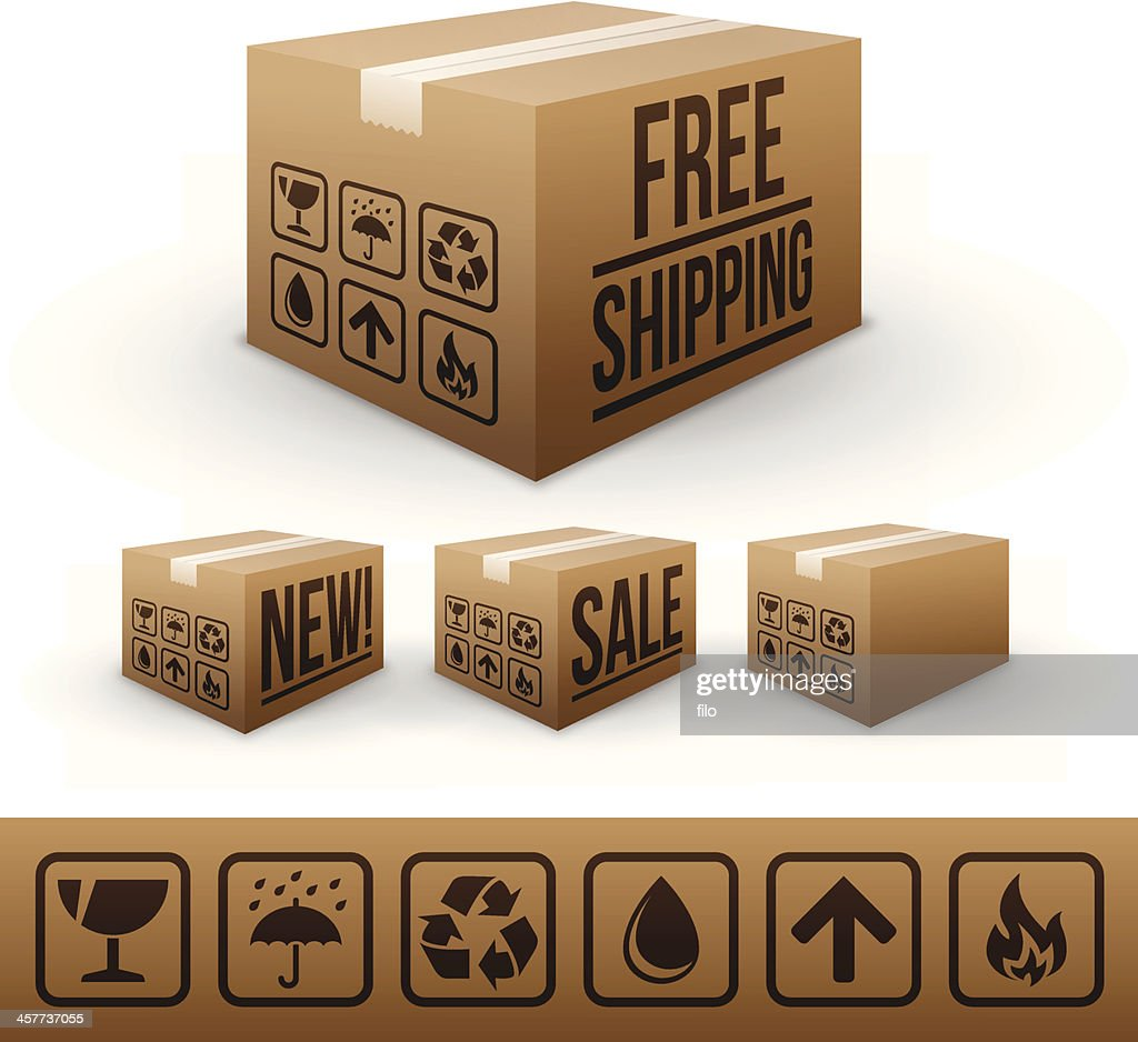 Shipping and E-commerce boxes : stock vector
