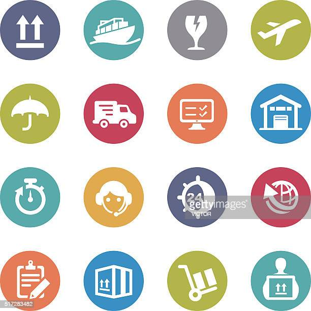 Shipping and Logistics Icons - Circle Series