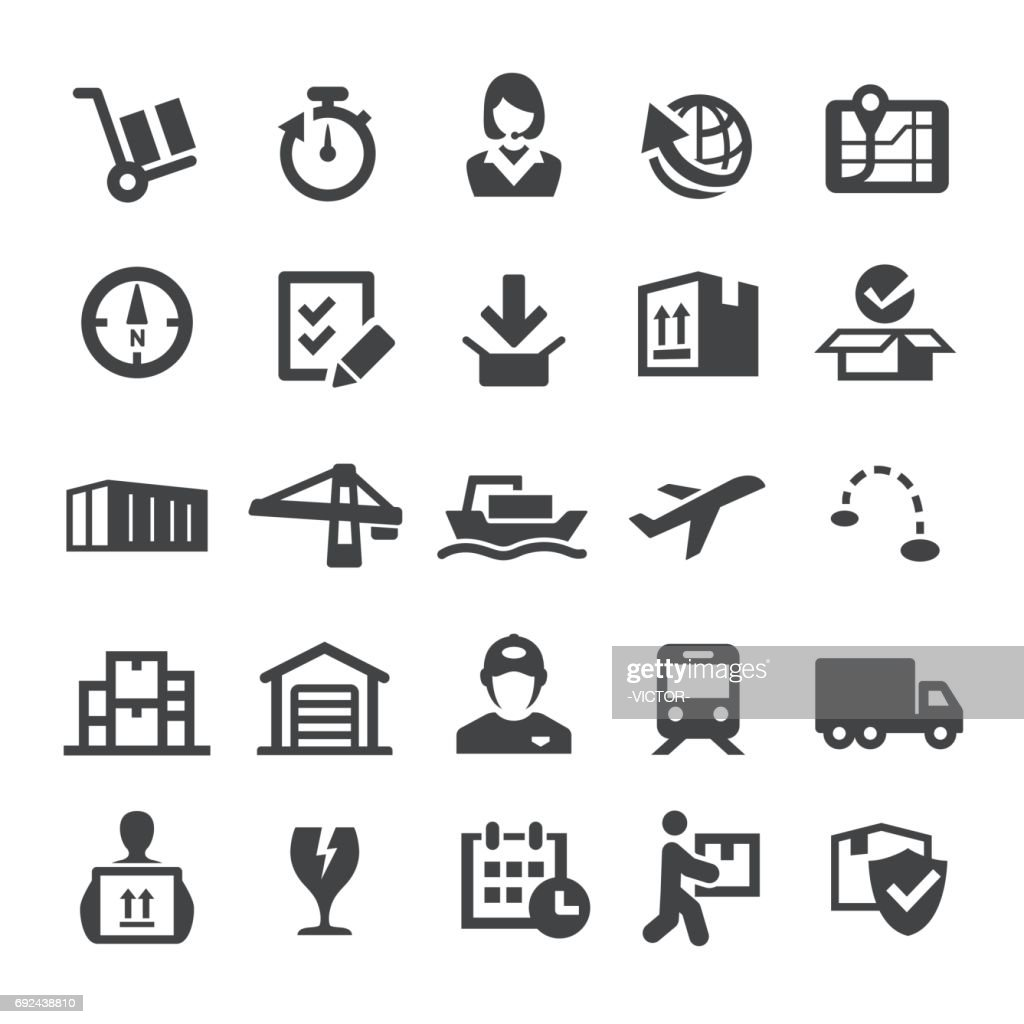 Shipping and Logistics Icons - Smart Series