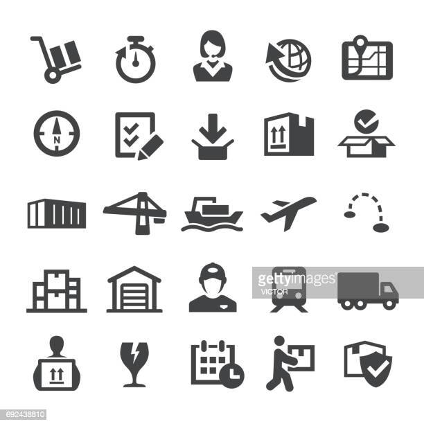 shipping and logistics icons - smart series - shipping stock illustrations