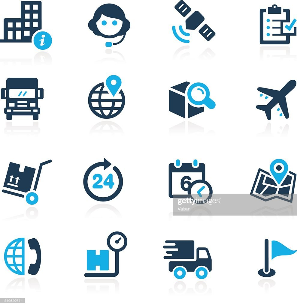 Shipping and Tracking icons - Azure Series