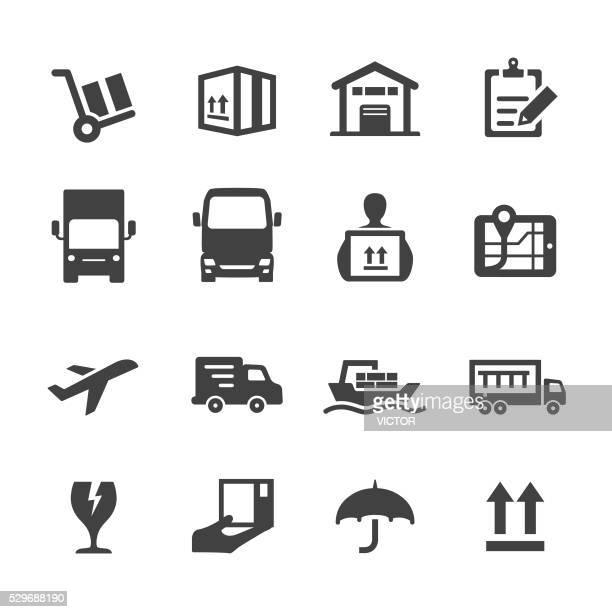 shipping icons - acme series - shipping stock illustrations