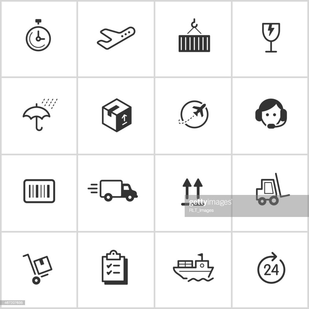 Shipping & Logistics Icons — Inky Series