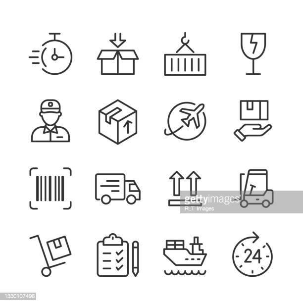 出荷・物流アイコン — モノラインシリーズ - 荷積み場点のイラスト素材/クリップアート素材/マンガ素材/アイコン素材