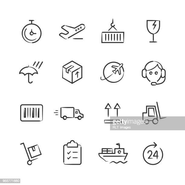 Shipping & Logistics Icons — Sketchy Series