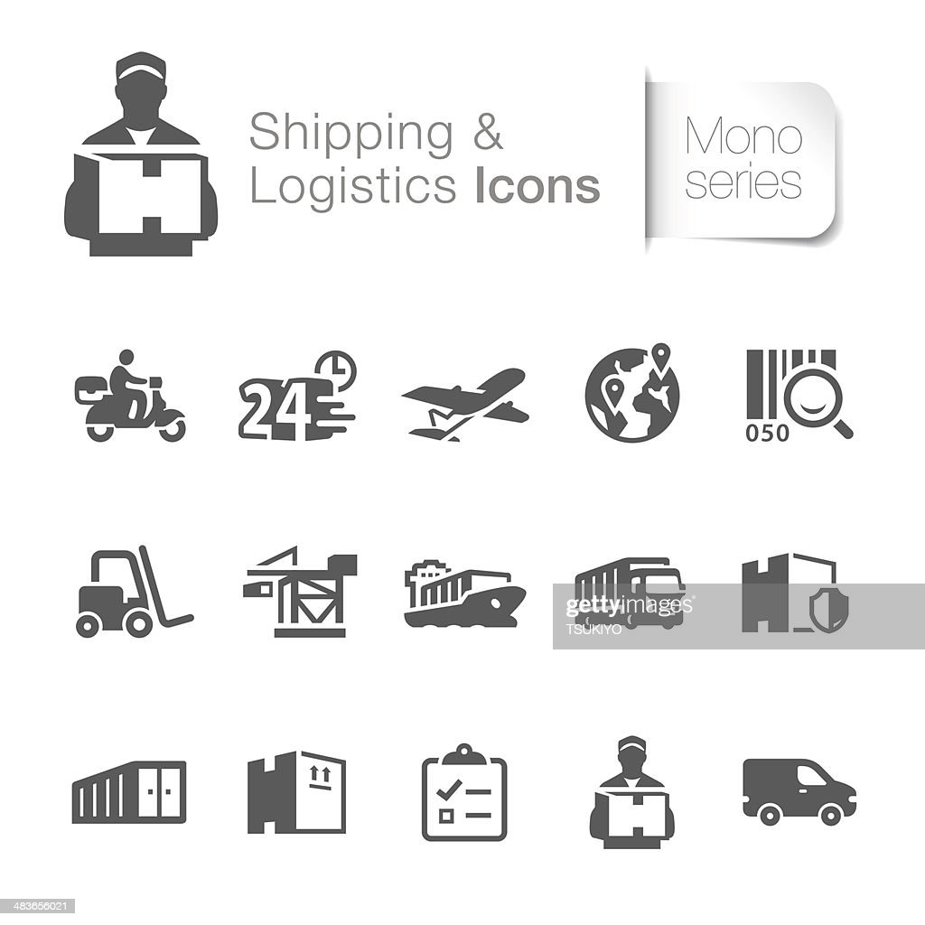 Shipping & Logistics Related Icons