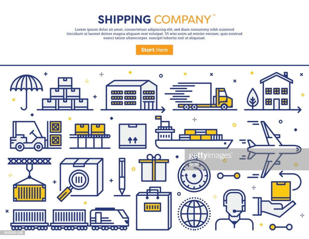 Shipping Services Concept : stock illustration