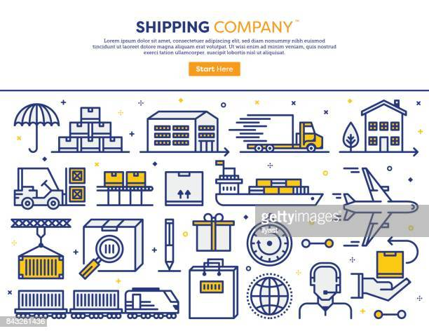 shipping services concept - shipping stock illustrations