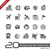 Shipping & Tracking Icons // Basics