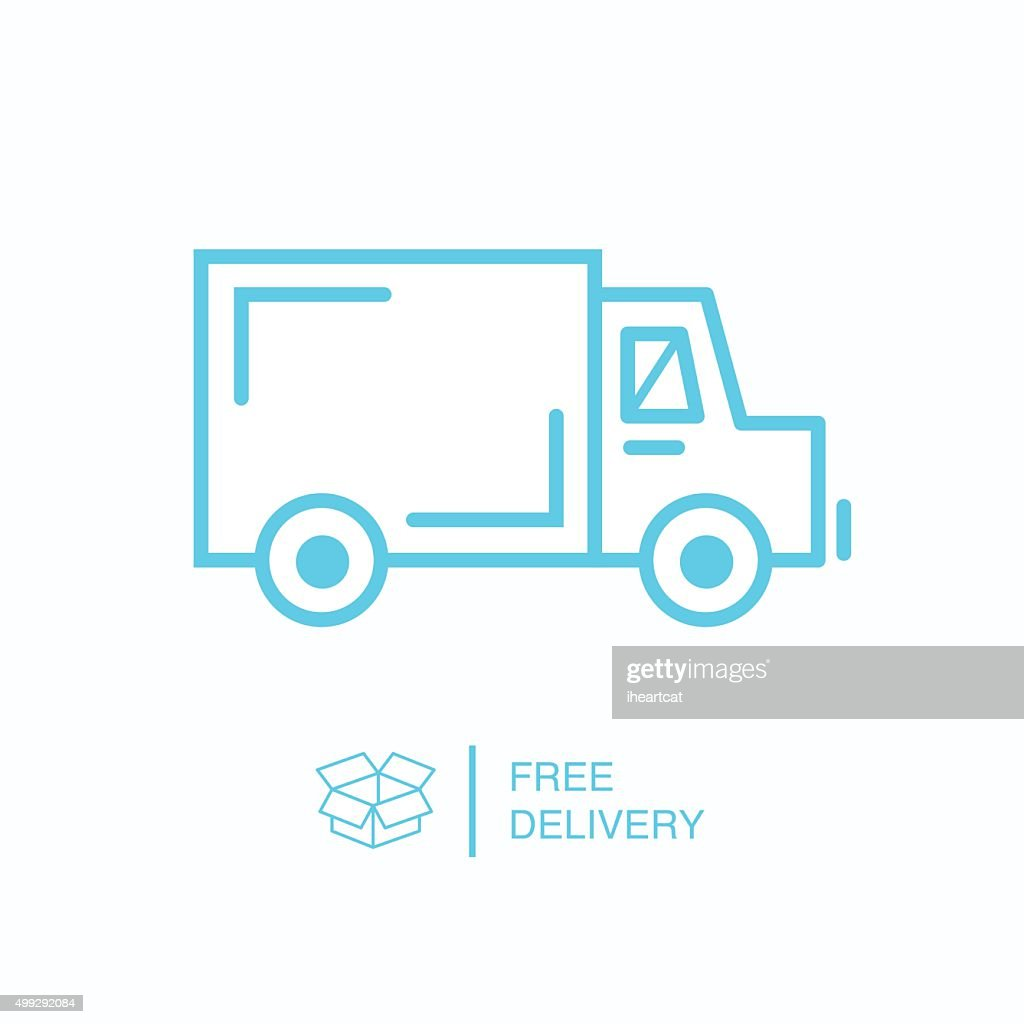 Shipping truck outline icon