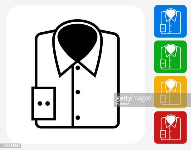 shirt icon flat graphic design - shirt stock illustrations
