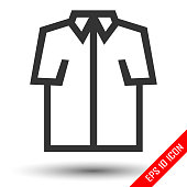 Shirt icon. Flat icon of shirt. Shirt EPS. Vector illustration.