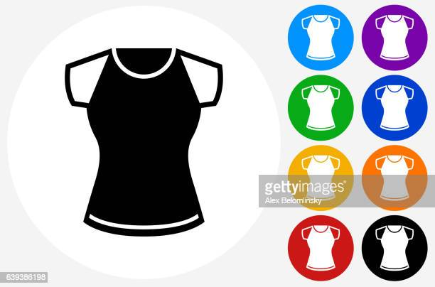 Shirt Icon on Flat Color Circle Buttons