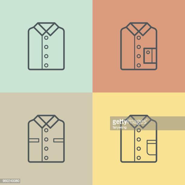 shirt icons - shirt stock illustrations