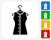 Shirt on Hanger Icon Flat Graphic Design