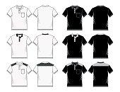 shirt template black white, vector image