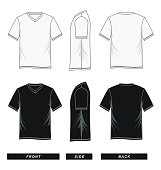T shirt V-neck raglan sleeve