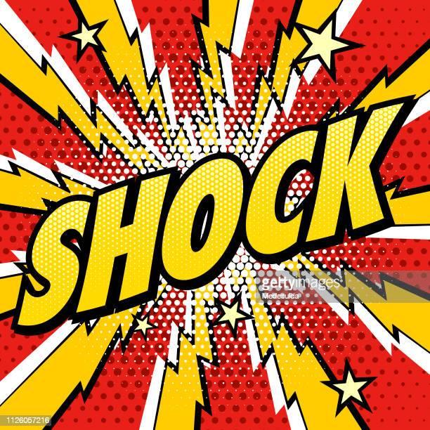retro-vektor schock - begeisterung stock-grafiken, -clipart, -cartoons und -symbole