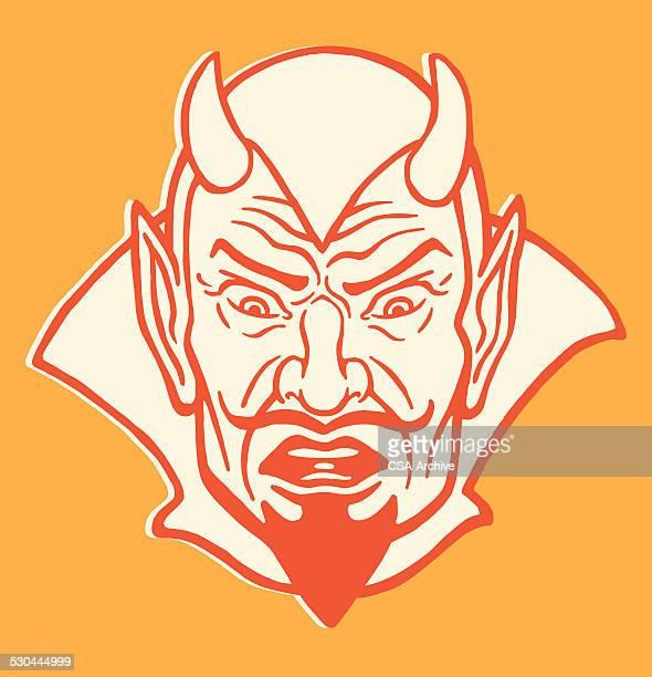 shocked devil - devil stock illustrations