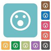 Shocked emoticon flat icons