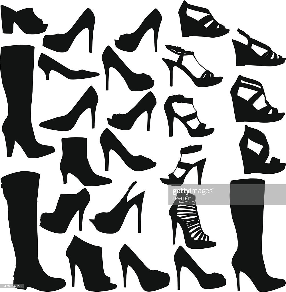Shoe Collection : stock illustration