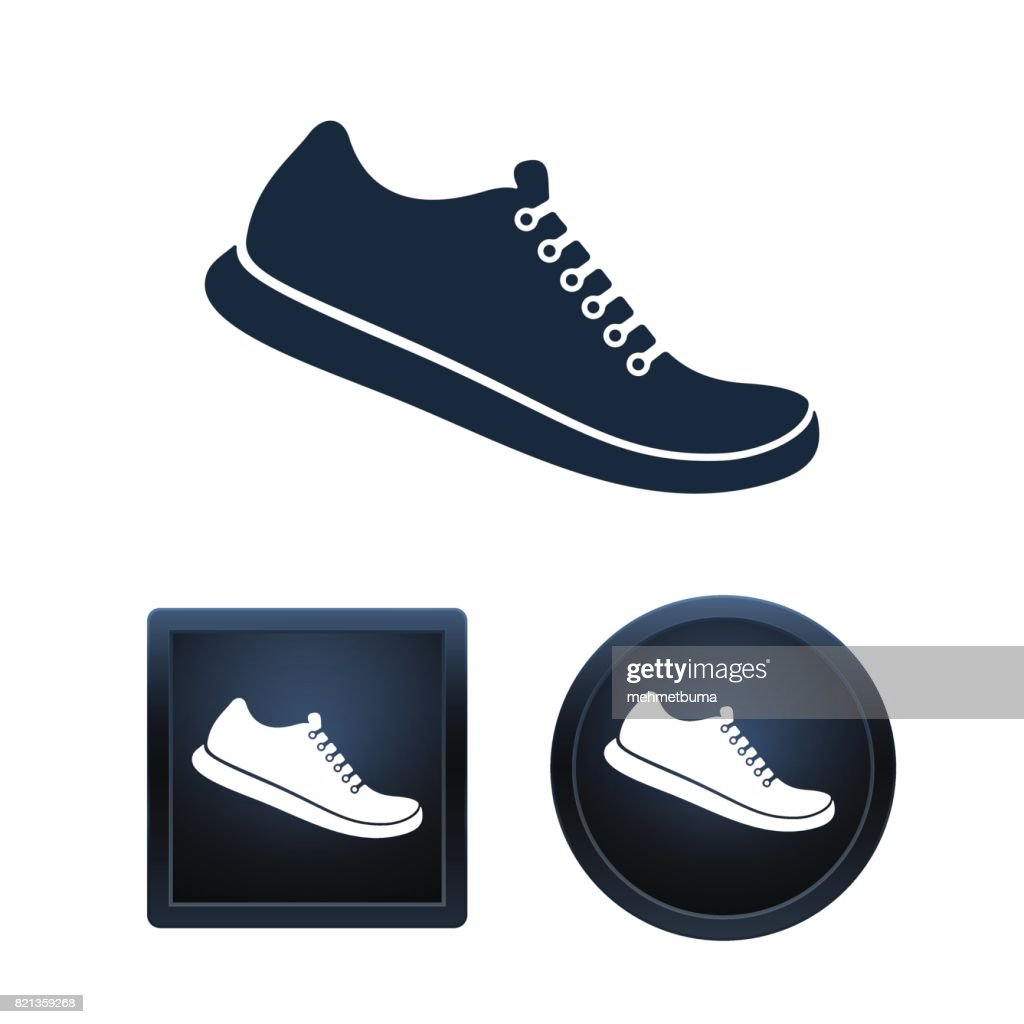 Shoe icon set, isolated vector illustratio