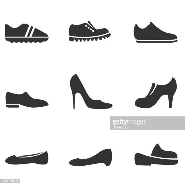 Shoe icon set