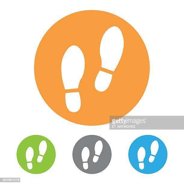 Shoe prints icon. Vector