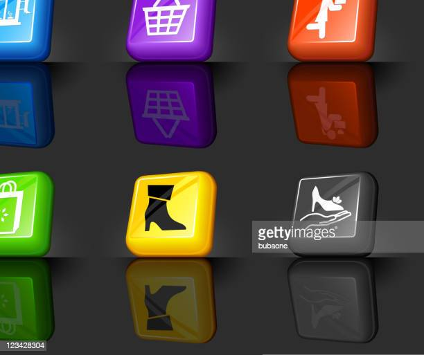 shoe sale internet royalty free vector icon set