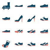 shoes icon set