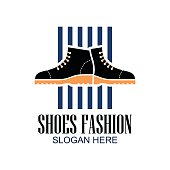 shoes icon, shoes shop icon with text space for your slogan / tag line for fashion business. vector illustration