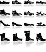 Shoes icons - illustration
