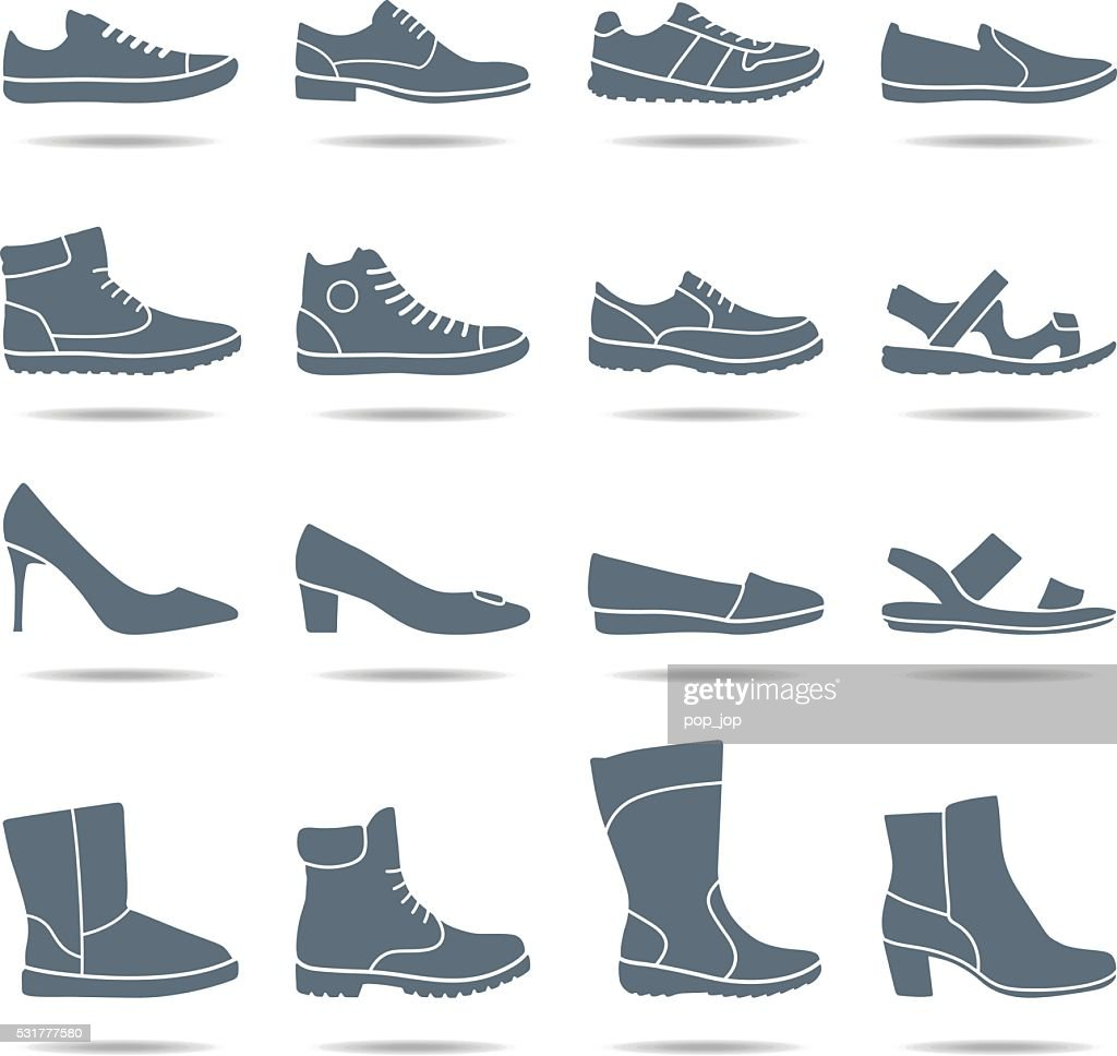 Shoes icons - illustration : stock illustration