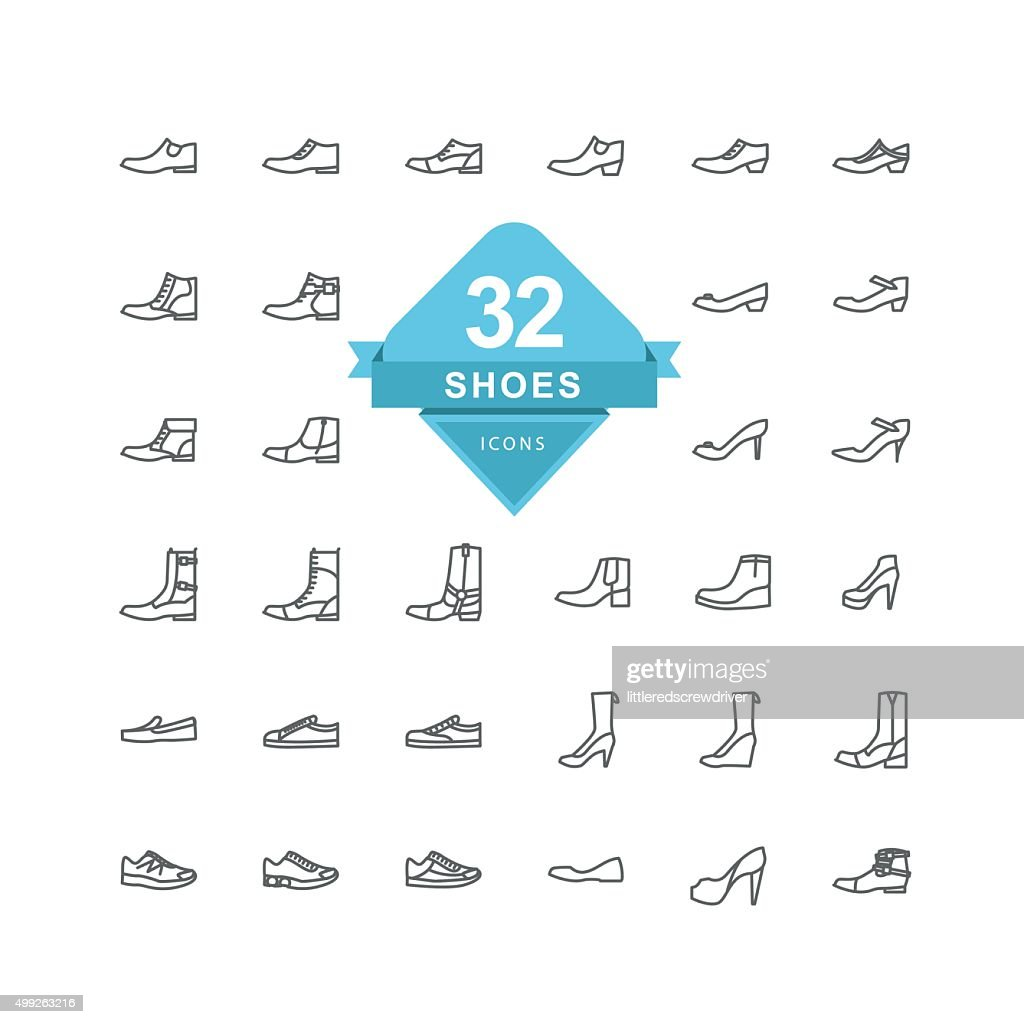 Shoes Icons ( Line Icon )